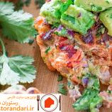 طرز تهیه ی برگر ماهی سالمون