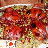 طرز تهیه ی انار پلو شیرازی شام مخصوص شب یلدا