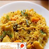 دستور تهیه ی پلو سبزیجات هندی