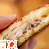 طرز تهیه ی کوکو سیب زمینی شکم پر با گوشت