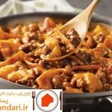 تاکوی گوشت تابه ای یک غذای سریع